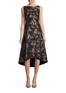 Lafayette 148 Printed High-Low Dress