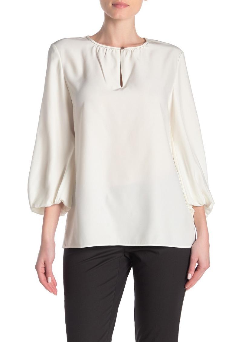 Lafayette 148 Prunella Puffed Sleeve Silk Blouse