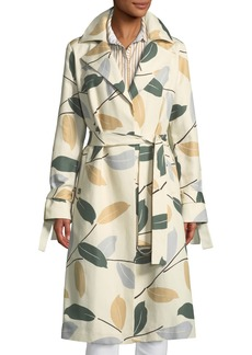 Lafayette 148 Rayna Inspired Laurel Cotton Trench Coat