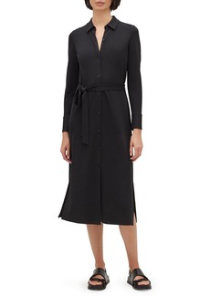 Lafayette 148 Rea Long-Sleeve Matte Jersey Shirtdress