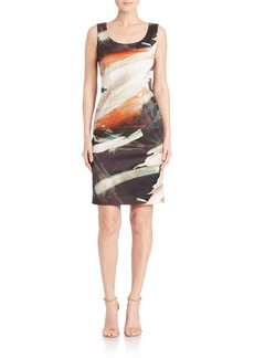 Lafayette 148 Rebecca Printed Sleeveless Dress