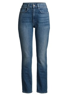 Lafayette 148 Reeve High-Rise Straight Ankle Jeans