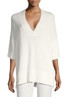 Lafayette 148 Relax-Fit V-Neck Sweater