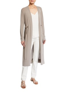 Lafayette 148 Relaxed Duster Cardigan With Drawstring