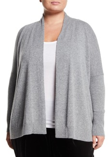 Lafayette 148 Relaxed Open Cashmere Cardigan