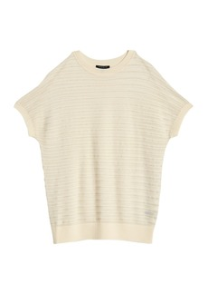 Lafayette 148 Relaxed Semi Sheer Dolman Sleeve Top