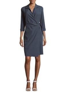 Lafayette 148 Reva Wrap Solid Dress
