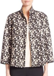 Lafayette 148 Reversible Bellene Grid Jacket