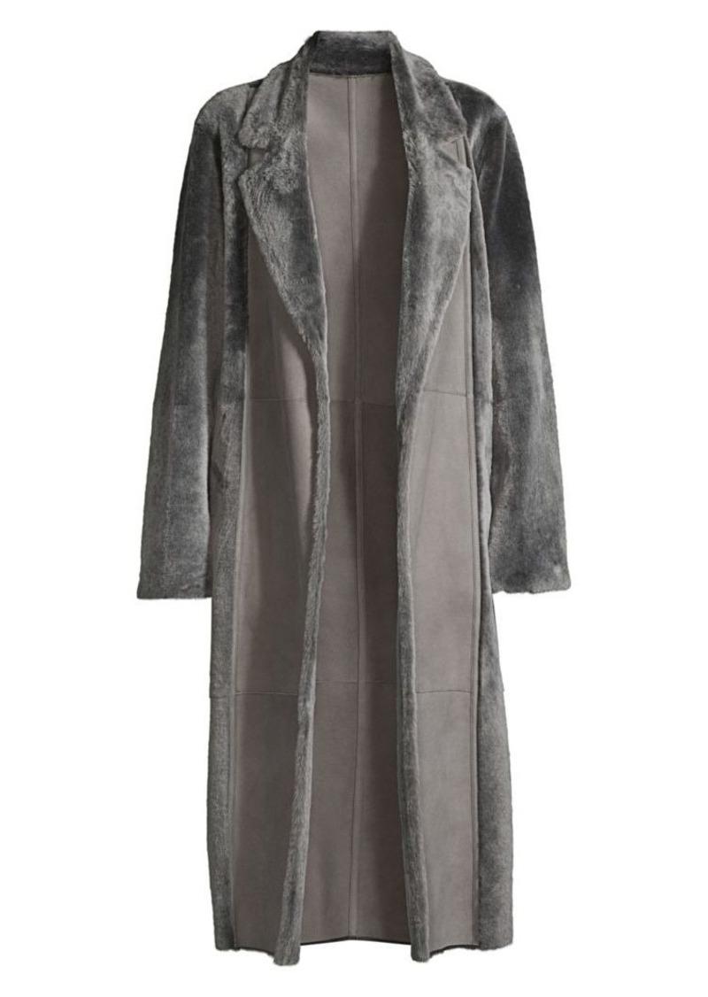 Lafayette 148 Reversible Shearling Devonshire Coat