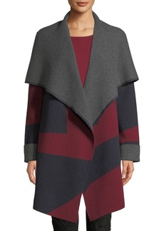 Lafayette 148 Reversible Two-Tone Cashmere-Stretch Cardigan