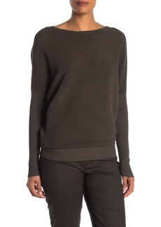 Lafayette 148 Rib Knit Dolman Sleeve Pullover