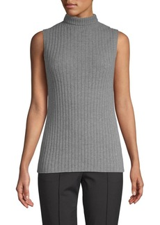 Lafayette 148 Ribbed Cashmere Top