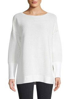 Lafayette 148 Ribbed Long-Sleeve Tunic