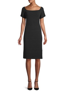 Lafayette 148 Ribbed Sheath Dress