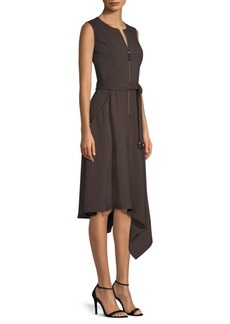 Lafayette 148 Ripley Asymmetric A-Line Dress