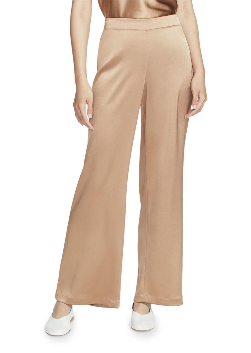 Lafayette 148 Riverside Reverie Satin Cloth Ankle Pants