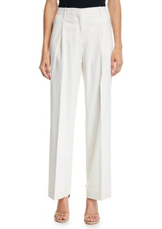 Lafayette 148 Rivington Cuffed Stretch Wool Pants