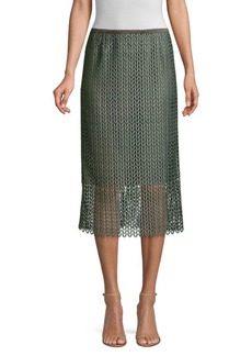 Lafayette 148 Robby Lace Midi Skirt