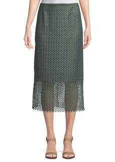 Lafayette 148 Robby Lambent Lace Slim Skirt