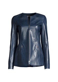 Lafayette 148 Roger Leather Jacket