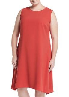 Lafayette 148 Romona Sleeveless A-Line Dress  Plus Size