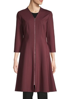 Lafayette 148 Rosalie Zip-Up A-Line Dress