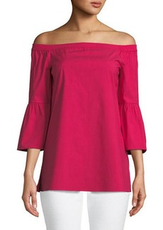 Rosario Off-the-Shoulder Cutout-Cuffs Blouse