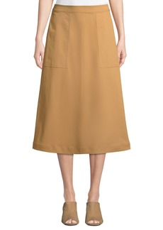Lafayette 148 Rosella Utility Midi Skirt