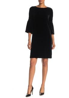 Lafayette 148 Roslin Bell Sleeve Velvet Dress
