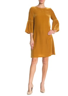 Lafayette 148 Roslin Bell Sleeve Velvet Dress