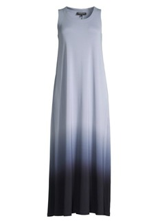 Lafayette 148 Ross Ombre Long Shift Dress