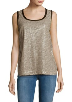 Lafayette 148 Roya Scoopneck Sleeveless Tank Top