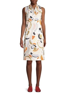 Lafayette 148 Rudy Sleeveless Cotton Shirtdress