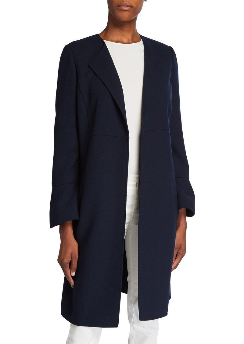 Lafayette 148 Russo Nouveau Crepe Wool Coat