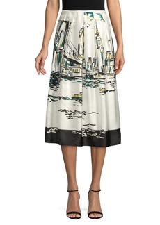 Lafayette 148 Sabilla Printed Skirt