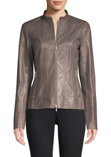 Lafayette 148 Sadie Leather Jacket