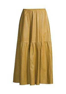 Lafayette 148 Safford Leather Skirt