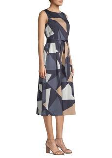Lafayette 148 Sammy Print Midi Dress
