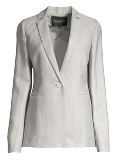 Lafayette 148 Samson Single-Breasted Wool & Linen Blazer