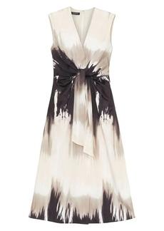 Lafayette 148 Sandstone Ombré Tie-Waist A-Line Dress