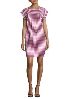 Lafayette 148 Sangria Breton-Striped Dress