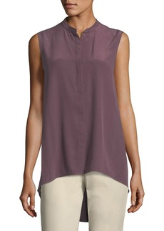 Lafayette 148 Sari Sleeveless High-Low SilkBlouse