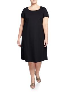 Lafayette 148 Scoop-Neck Shift Dress  Plus Size