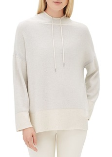 Lafayette 148 Sequin Long-Sleeve Luxe Silk Pullover Hoodie