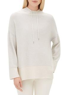 Lafayette 148 Sequin Long-Sleeve Luxe Silk Pullover Hoodie