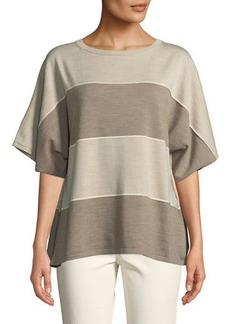 Lafayette 148 Sequin-Trim Dolman-Sleeve Sweater