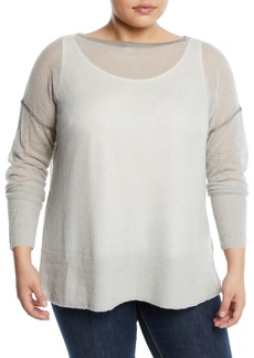 Lafayette 148 Sequined Sweater  Plus Size