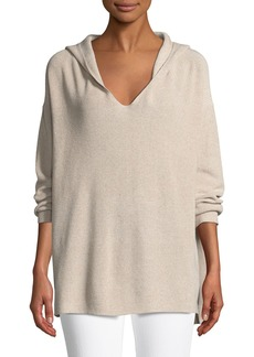 Lafayette 148 Shimmer Ribbed Hoodie Sweater