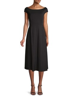 Lafayette 148 Short-Sleeve Midi Dress