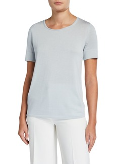Lafayette 148 Short-Sleeve Sweater